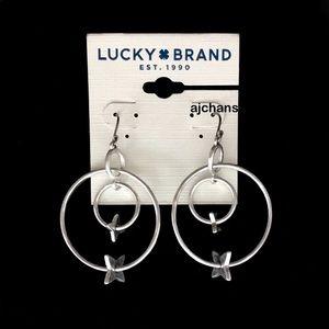 Lucky Brand Star Double Hoop Earrings